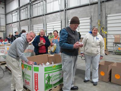 Helping at the Regional Food Bank